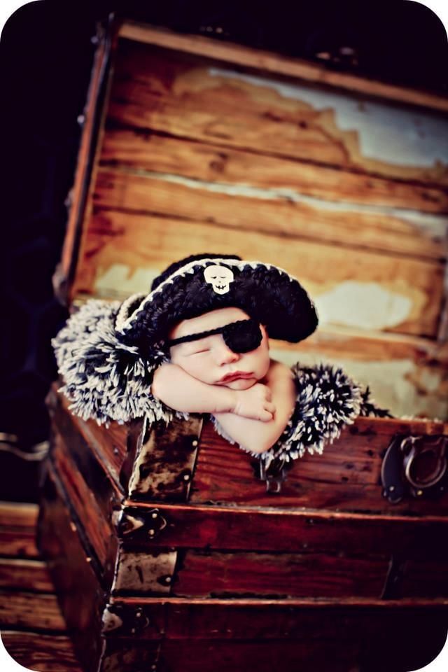 Newborn Photo Prop Baby Boy Pirate Hat Etsy