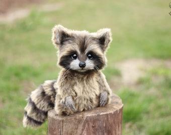 Raccoon Plush Etsy