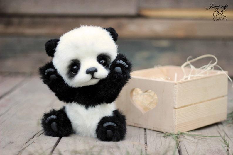 Dolls & Bears Teddy Bear Ooak Panda Pierre Perfect In Workmanship