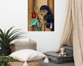 Fine Art Print feminist Poster Goddess Hathor, divine feminine, wall art, wall decor