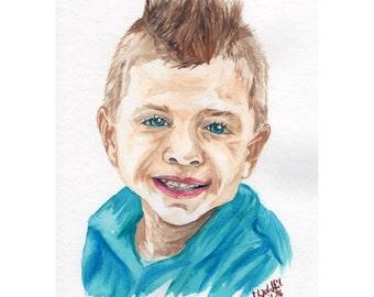 Custom watercolor portrait of your photo