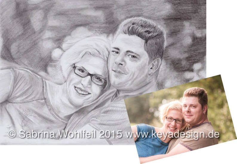 Custom Family Portrait Pencil drawing Photo to sketch image 0
