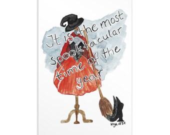 Poster Postcard Most Spooktacular Time Halloween Samhain greeting card wall decor Wall art