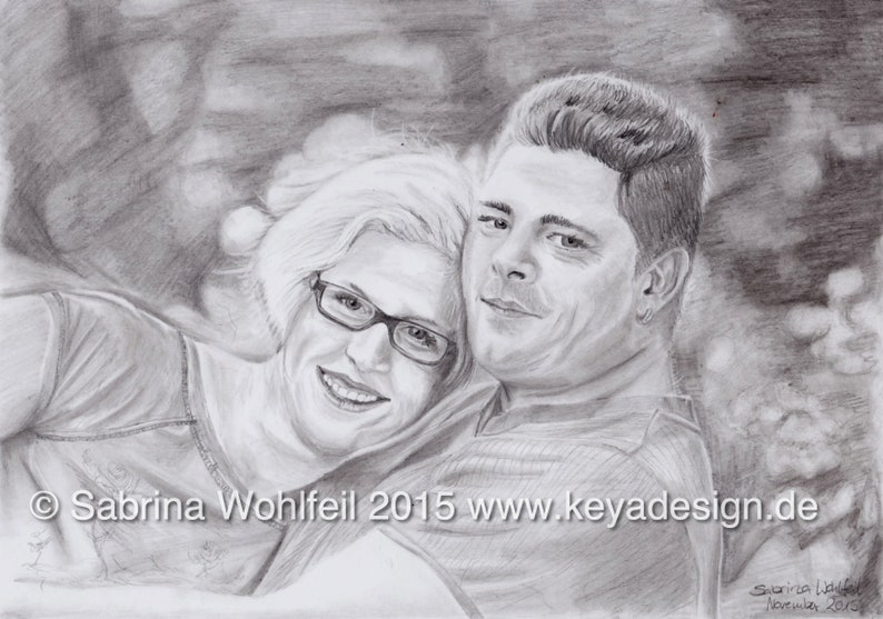 Custom Pencil Drawing A3 Personalised Gift