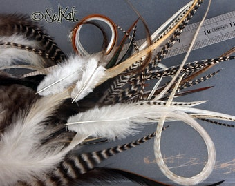 Cheap Hair Feathers Mixed Feathers for Extensions Real Craft Rooster Feathers Hair Accessories Fly Tying Jewelry Making 100 4-12inch