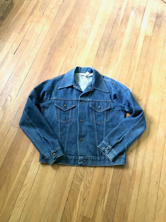 Vintage 60s 70s Blue Denim Jean Jacket