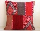 SALE Anatolian Rug Pillow Cover (kilim)