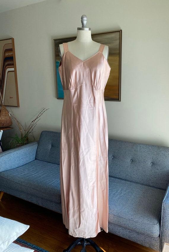 Vintage Satin Slip Dress / 50's Satin Slip Dress /