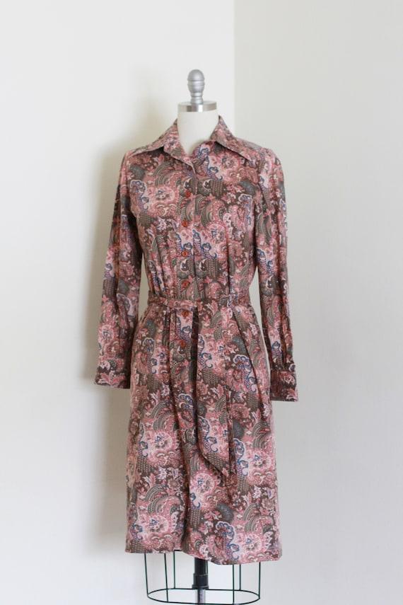 Vintage 60's Printed Cotton Dress / Cotton Shirt D