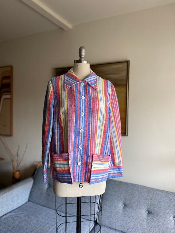 Vintage 70's Striped Jacket / Weathervane / Rainbo