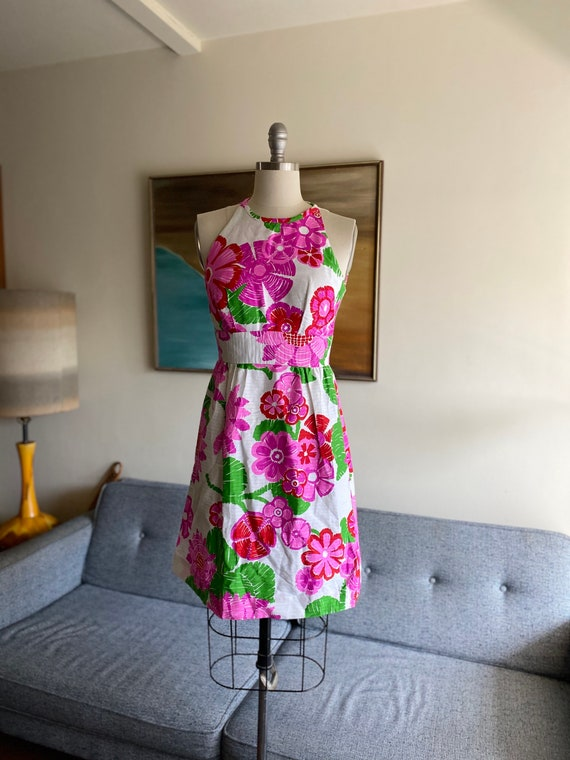 Vintage Malia Honolulu Floral Dress / Mini Dress /