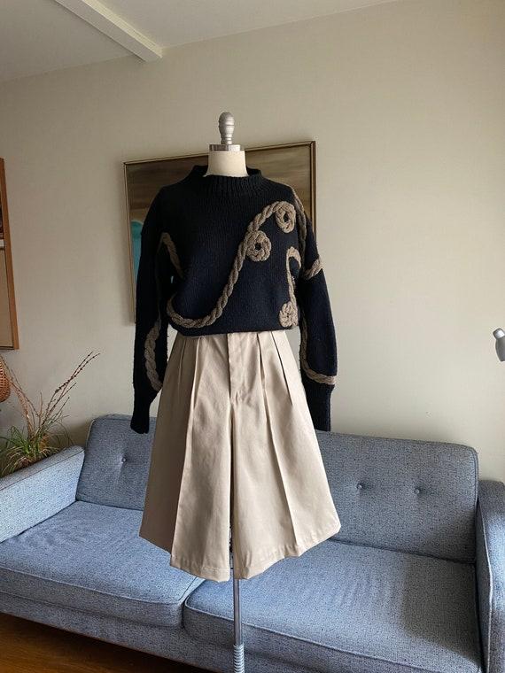 80's Vintage Gaucho Shorts / High Waisted / Pleati