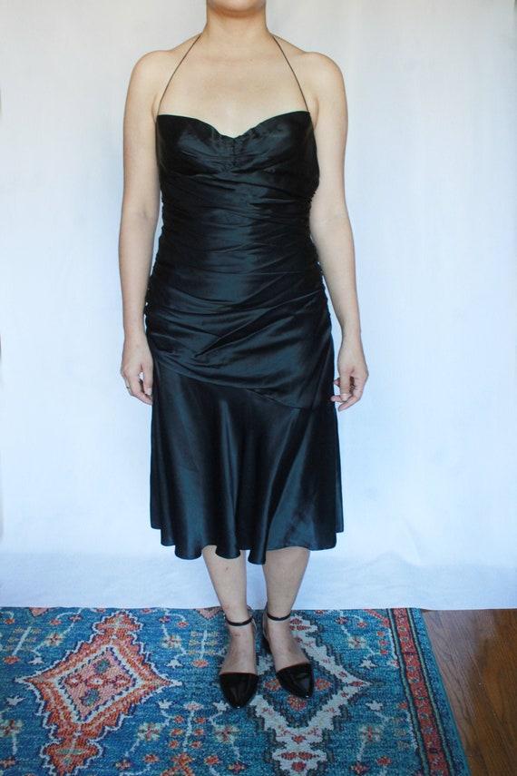 Vintage Black Silk Dress / Tahari Dress / Silk Sl… - image 2