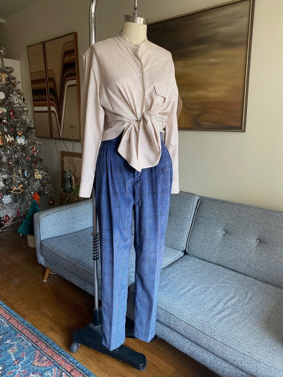 "Vintage High Waisted Corduroy Trousers, 27"" Waist"