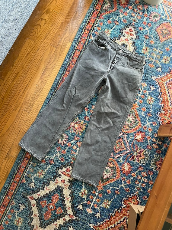 Vintage Levis 701 / Washed Grey / Button Fly / Mad