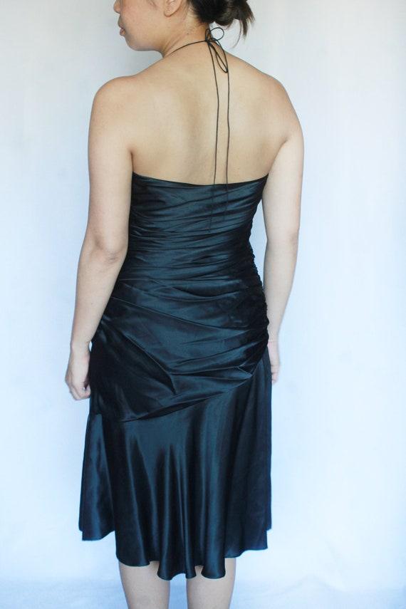 Vintage Black Silk Dress / Tahari Dress / Silk Sl… - image 6