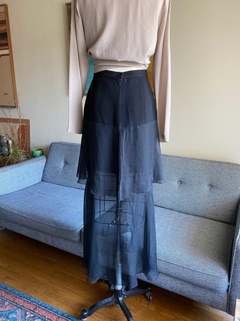 Vintage Karl Lagerfeld Black Skirt High Fashion Avant Garde
