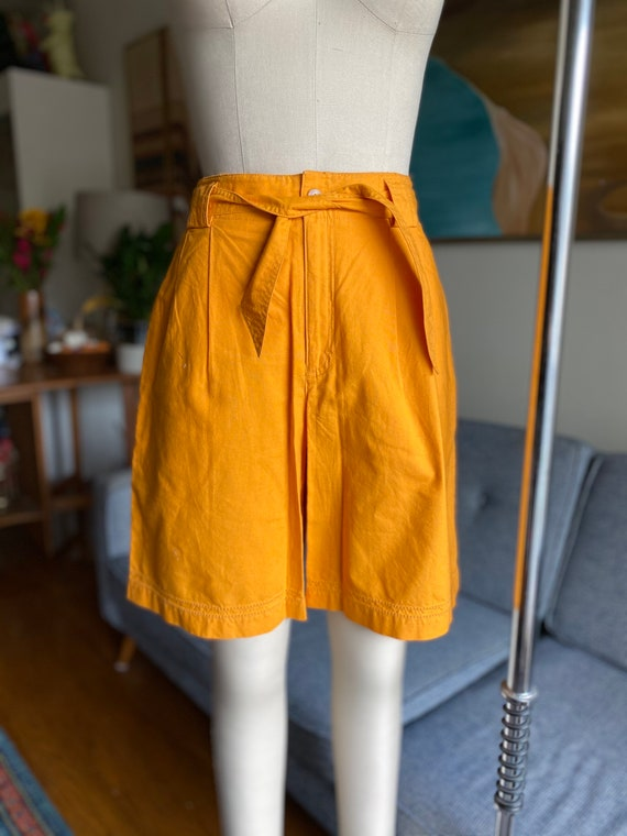 Vintage Cotton Shorts, Gaucho Shorts, High Waisted