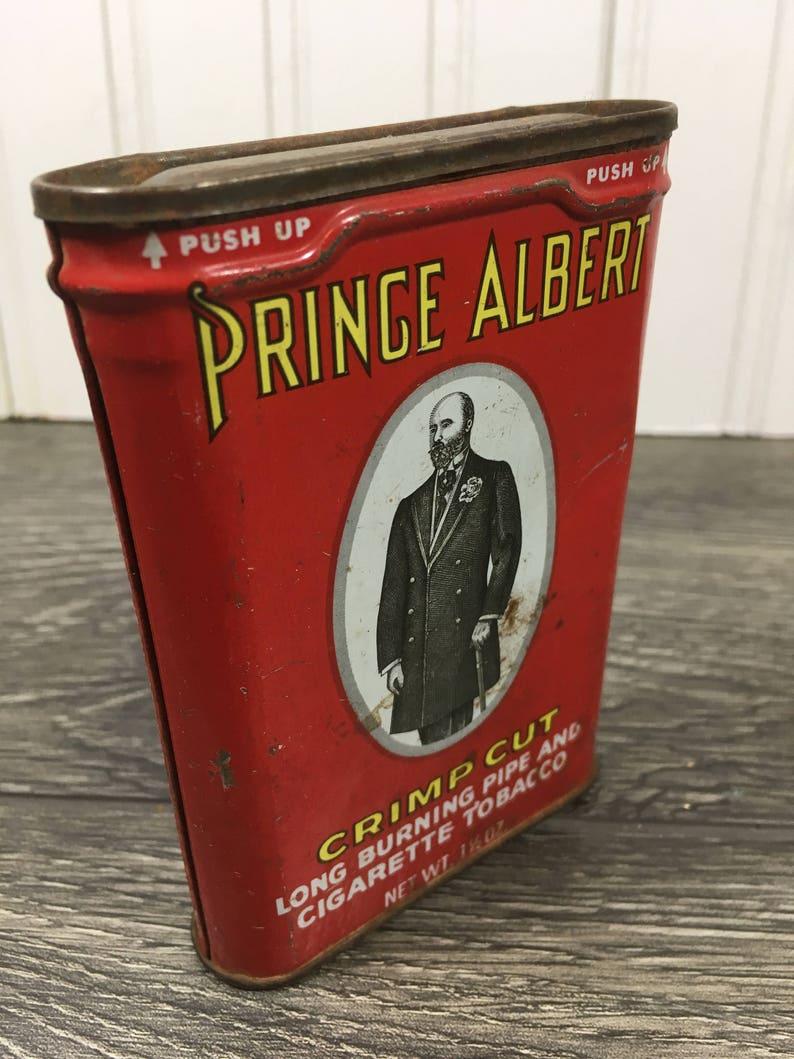 Vintage Prince Albert Tin Can Tobacciana Advertising Tin-Prince Albert Tin-Prince Albert Knive Tin