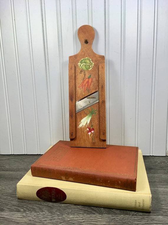 Vintage Wood Mandolin Slicer-Hand Painted Wood Mandolin Slicer-Mandolin  Wood Slicer