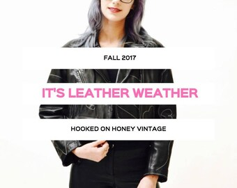 Vintage LEATHER JACKET Motorcycle Bomber Shearling Biker Check out our Shop