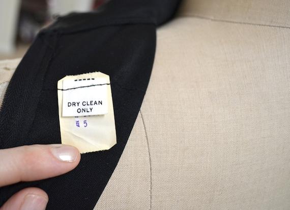 70s Vintage Black Maxi Dress Small // Vintage Bla… - image 6