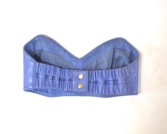 Vintage Pink Leather Shorts Hot Pants Leather Sho… - image 7