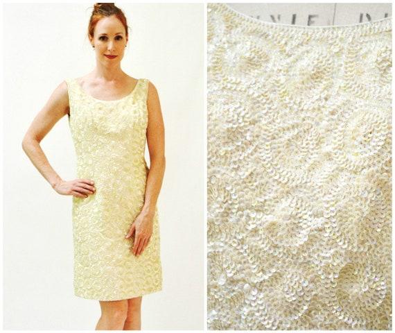 50s 60s Vintage Sequin Dress Vintage Sequin Weddin