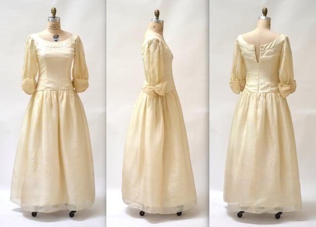 Raw Silk Wedding Dress