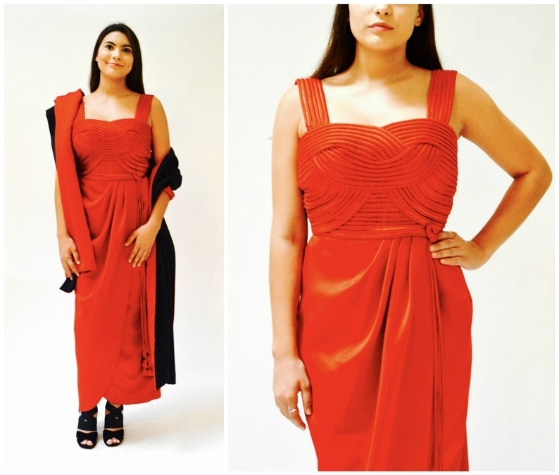 Vintage Red Evening Dress