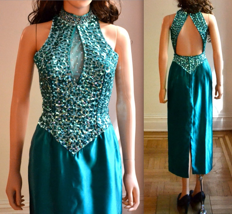 80s Sequin Prom Dress