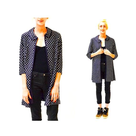 1960s Vintage Polka Dot Jacket Size Medium Large//