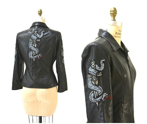 Vintage Black Leather Jacket by North Beach Michae