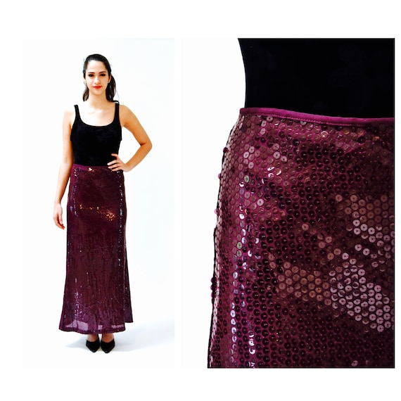 Vintage Sequin Maxi Skirt by Moschino Size Medium/