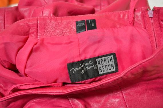 Vintage Pink Leather Shorts Hot Pants Leather Sho… - image 8