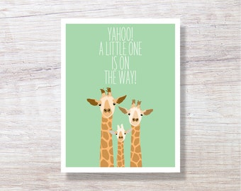 ID Congrats On Your New Arrival! BAB001 Giraffe Baby Card