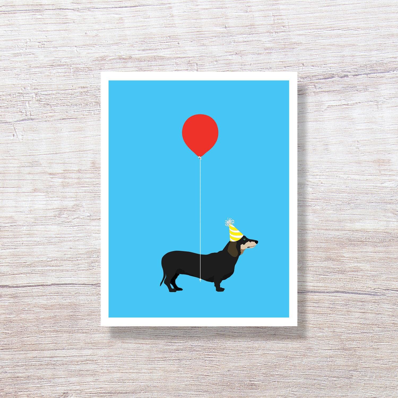 Dachshund Birthday Card Dog Greeting Funny