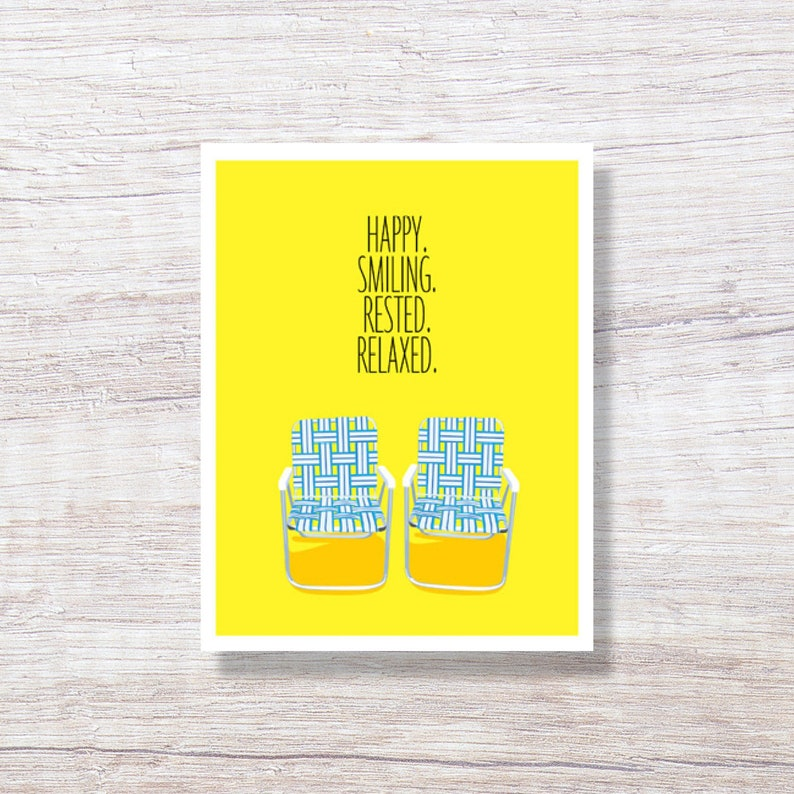 Happy Retirement Card Funny LAWN CHAIRS Congratulations Retirement Card