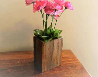 The Wooden Wonder Cup - Rustic Wood Multi-Use Cup, Pen/Pencil Holder, Toothbrush Holder, Artificial Flower Vase, Decorative Vase, Organizer
