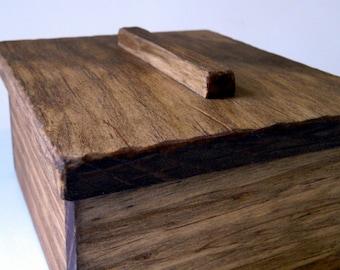Rustic Wood Trinket Box, Catch-all, Jewelry Box, What Not Box, Decorative Box