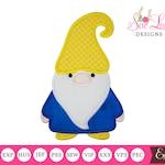 Gnome 3 Applique Design , machine embroidery design