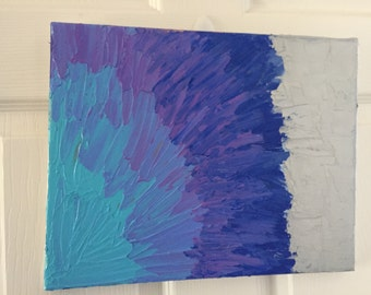 SALE- Brushed Petals- Textured Acrylic Painting