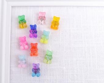 Gummy Bear Push Pins, Glitter Ombre Bear Thumb Tacks, Candy Novelty Corkboard Tacks