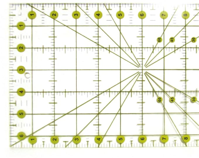 Quilt ruler for Rotary cutting fabric