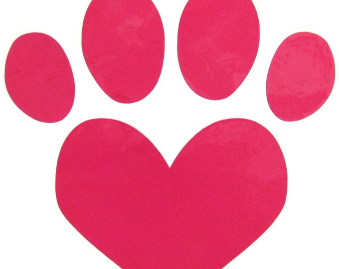 Paw Vinyl Decal - Bling for your Sewing Machine