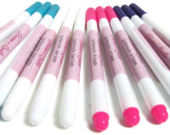 Quilt Marker Pens for Quilting and Crafts Air Erasable & Water Soluble