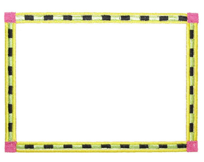 Bright Fun frame embroidered quilt label to customize with your personal message