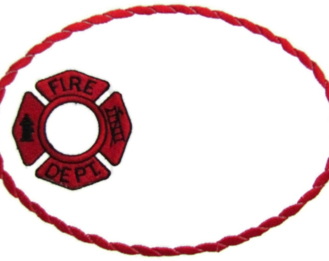 Fire fighter embroidered quilt label to customize with your personal message
