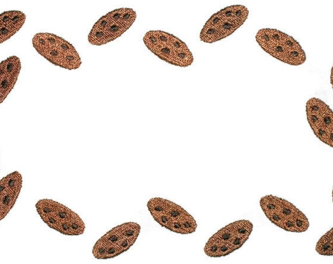 Chocolate Chip cookies embroidered quilt label, to customize with your personal message