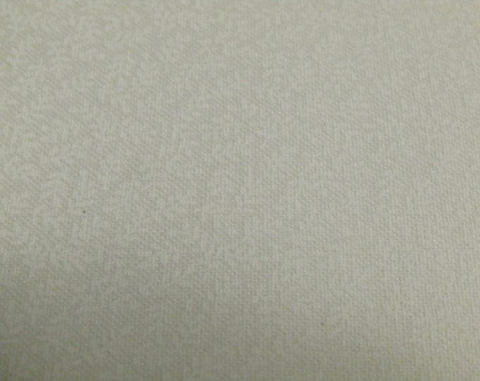 Sold by the half yard - White tone on tone 100% Cotton Quilt Fabric